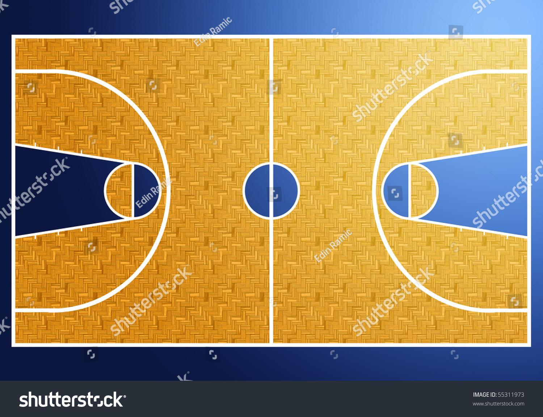 handball court diagram massey ferguson wiring basketball stock illustration 55311973 shutterstock