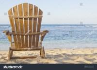Beach Chair Adirondack Chair Beach Scene Stock Photo ...