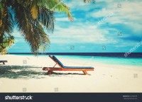 Beach Chairs On Tropical Vacation Stock Photo 552780379 ...