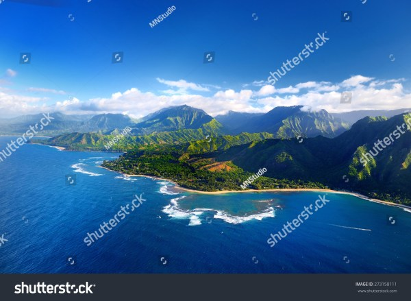 Beautiful Aerial View Hawaii