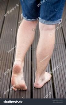 Beautiful Bare Feet Young Male Model Stock 208499092