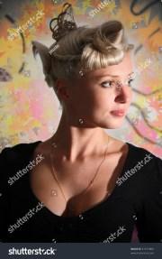 beautiful female model with unique