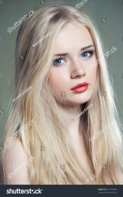 beautiful girl blue eyes long blonde