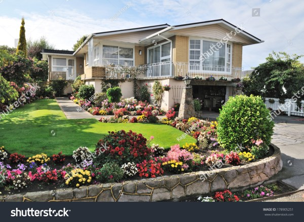 beautiful home with flowers
