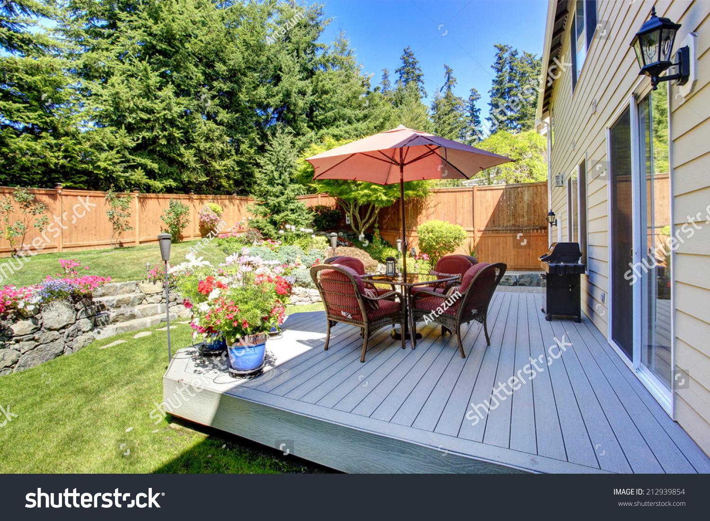 https www shutterstock com image photo beautiful landscape design backyard garden patio 212939854