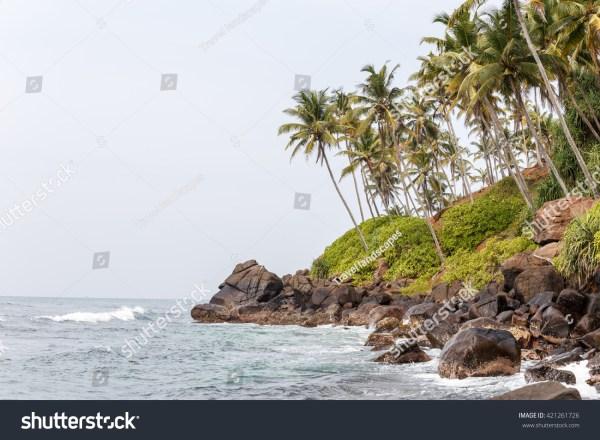 beautiful landscape rocky beach