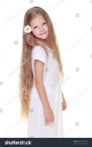 beautiful little girl with long