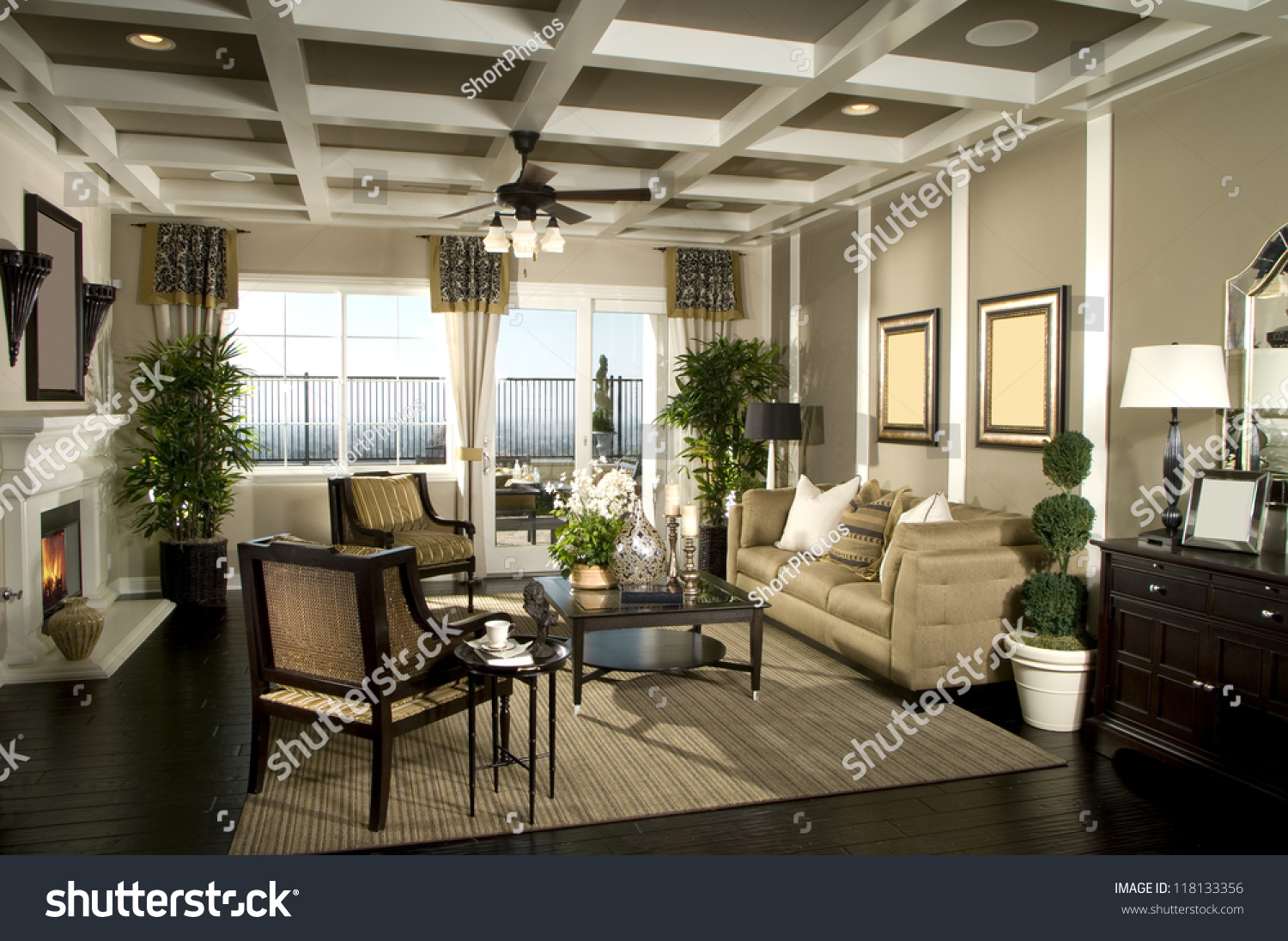 Beautiful Living Room Architecture Stock Images Stock Photo 118133356 Shutterstock