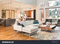 Beautiful Living Room Interior New Luxury Stock Photo ...
