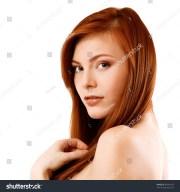 beautiful long red health hair