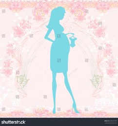 beautiful pregnant woman on shopping for her new baby abstract background [ 1500 x 1524 Pixel ]