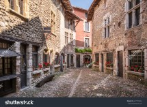 Beautiful View Scenic Narrow Alley Historic Stock
