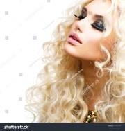 beauty girl healthy long curly
