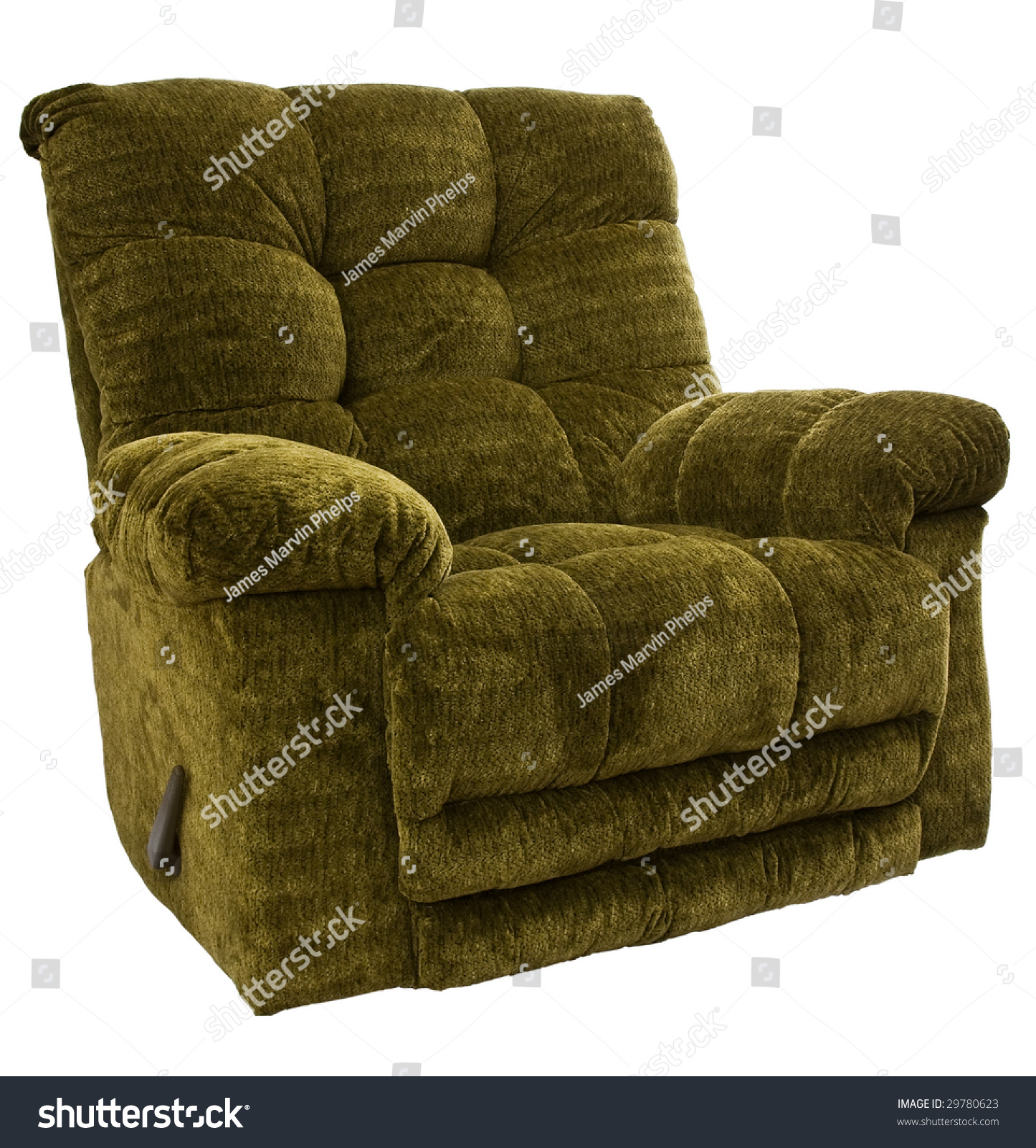 big and tall recliner chair shabby chic dining slipcovers sage green rocker stock photo