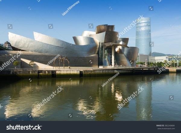 Bilbao Spain - July 4 2015 Guggenheim Museum