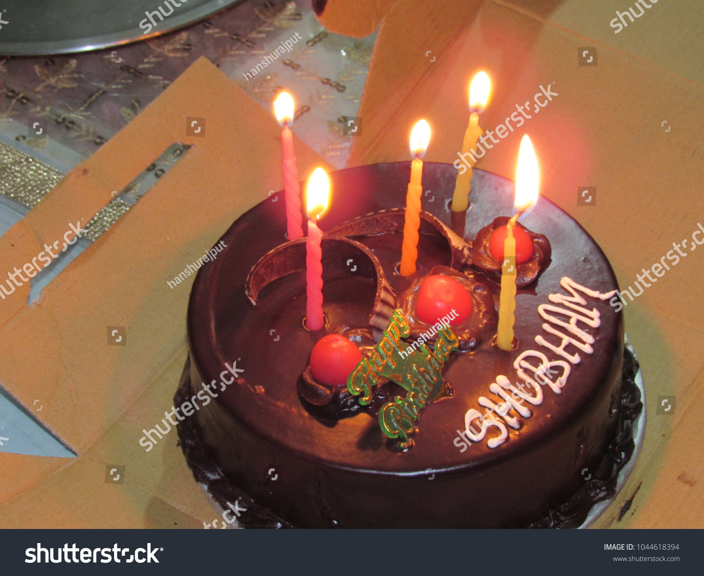 Birthday Cake Having Name Shubham Stock Photo Edit Now 1044618394