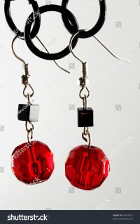 Black And Red Earrings Stock Photo 30292819 : Shutterstock