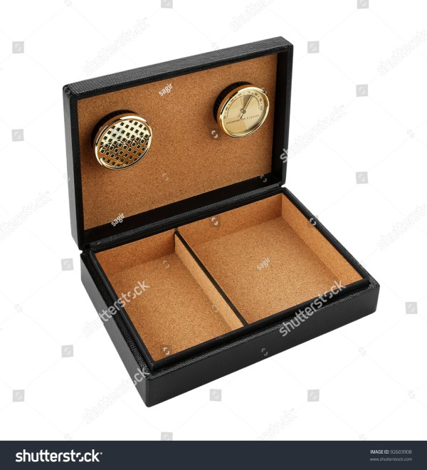 Black Leather Cigar Humidor Isolated On White Background Stock Photo 92603908 : Shutterstock