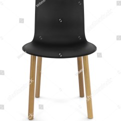 Black Plastic Chair With Wooden Legs Teenage Bedroom Modern Wood Front View Ez Canvas