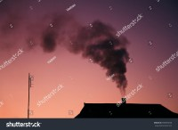 Black Smoke Comes Out Houses Chimney Stock Photo 398593636 ...