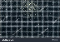 Black Wall Made Of Glossy Ceramic Tiles Stock Photo ...