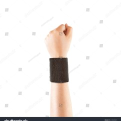 Wrist And Hand Unlabeled Diagram Vlan Design 20 Blank Pictures Ideas On Meta Networks Black Wristband Mockup Stock 412043935