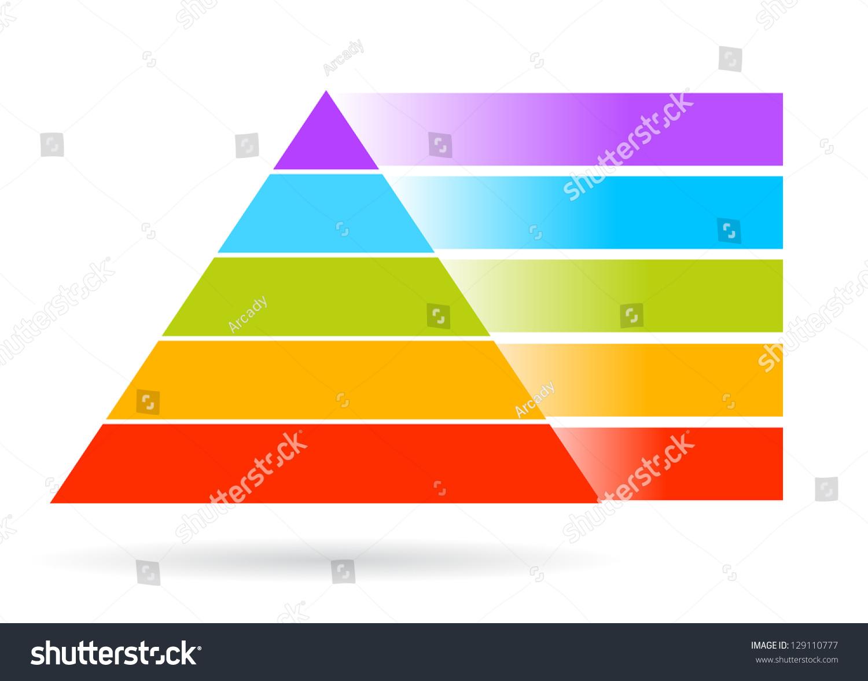 blank pyramid diagram 5 honda gcv160 engine parts add your text stock photo 129110777