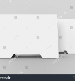 blank table tent 3d render table card set mockup for design uses triangular paper [ 1500 x 1200 Pixel ]