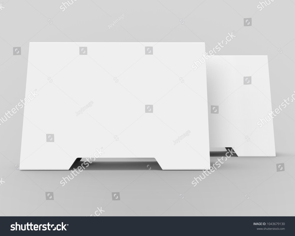medium resolution of blank table tent 3d render table card set mockup for design uses triangular paper