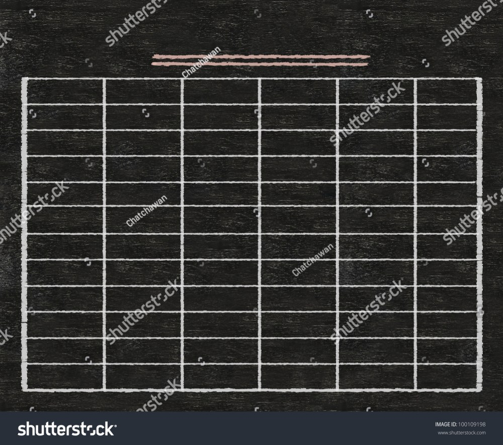 medium resolution of blank table written on blackboard background high resolution