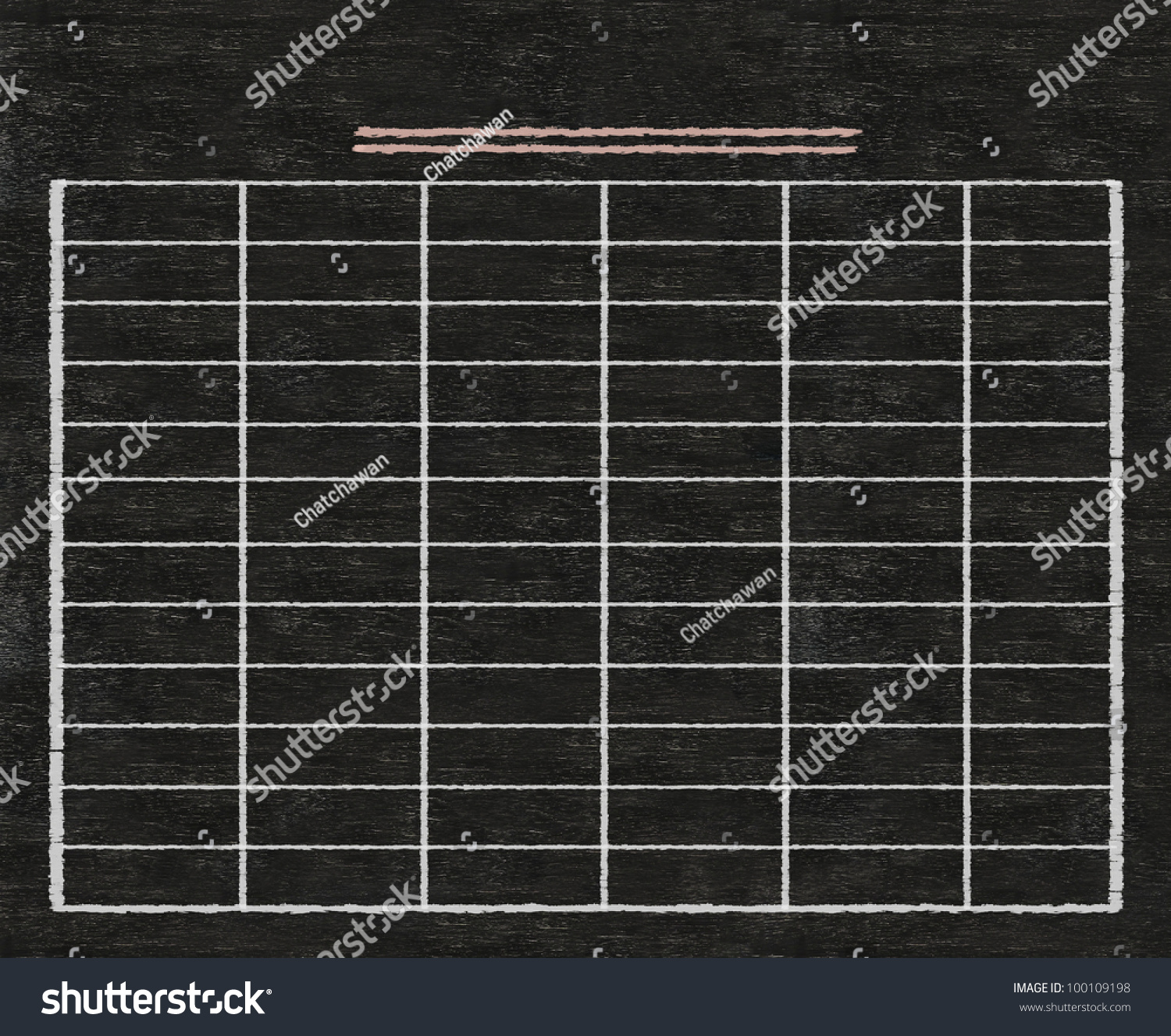 hight resolution of blank table written on blackboard background high resolution