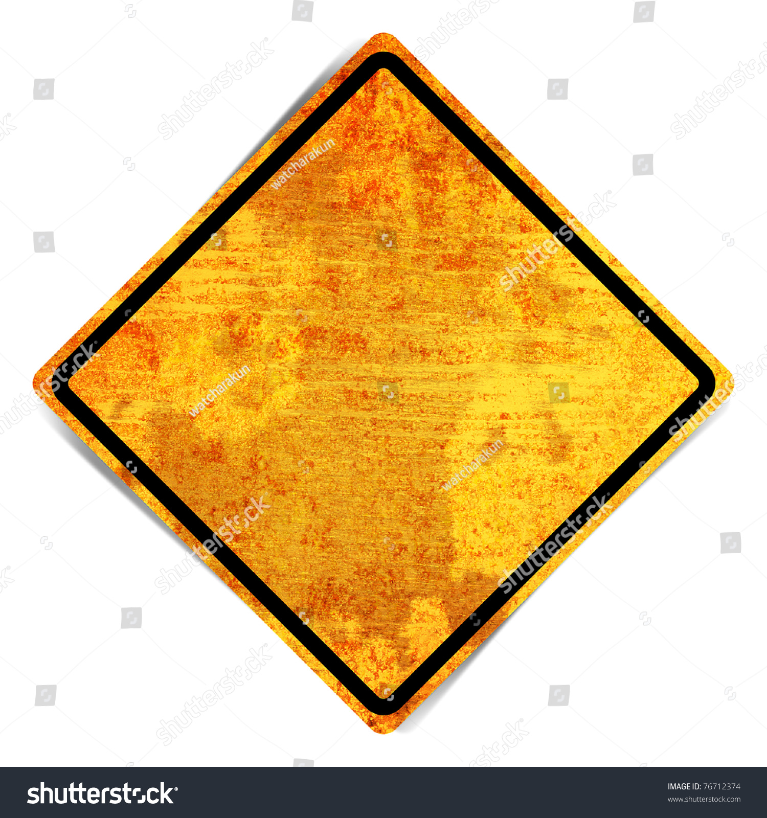 Blank Traffic Sign Grunge Retro Vintage Rusty Old Paper