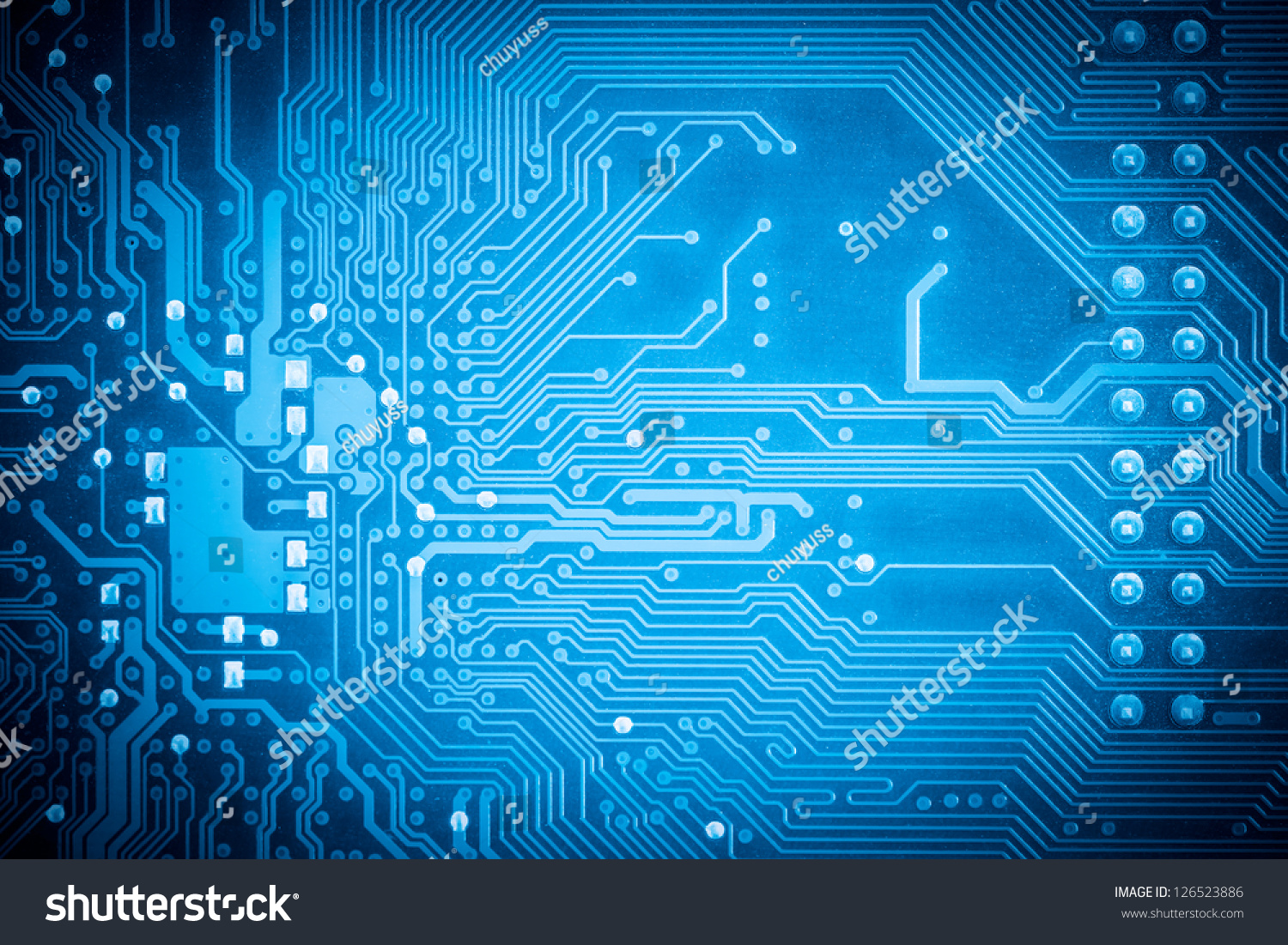 Motherboard Blue Circuits Circuit Board Computer Wallpaper Background