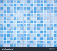 Blue Colored Mosaic Background Tiles Bathroom Stock Photo ...