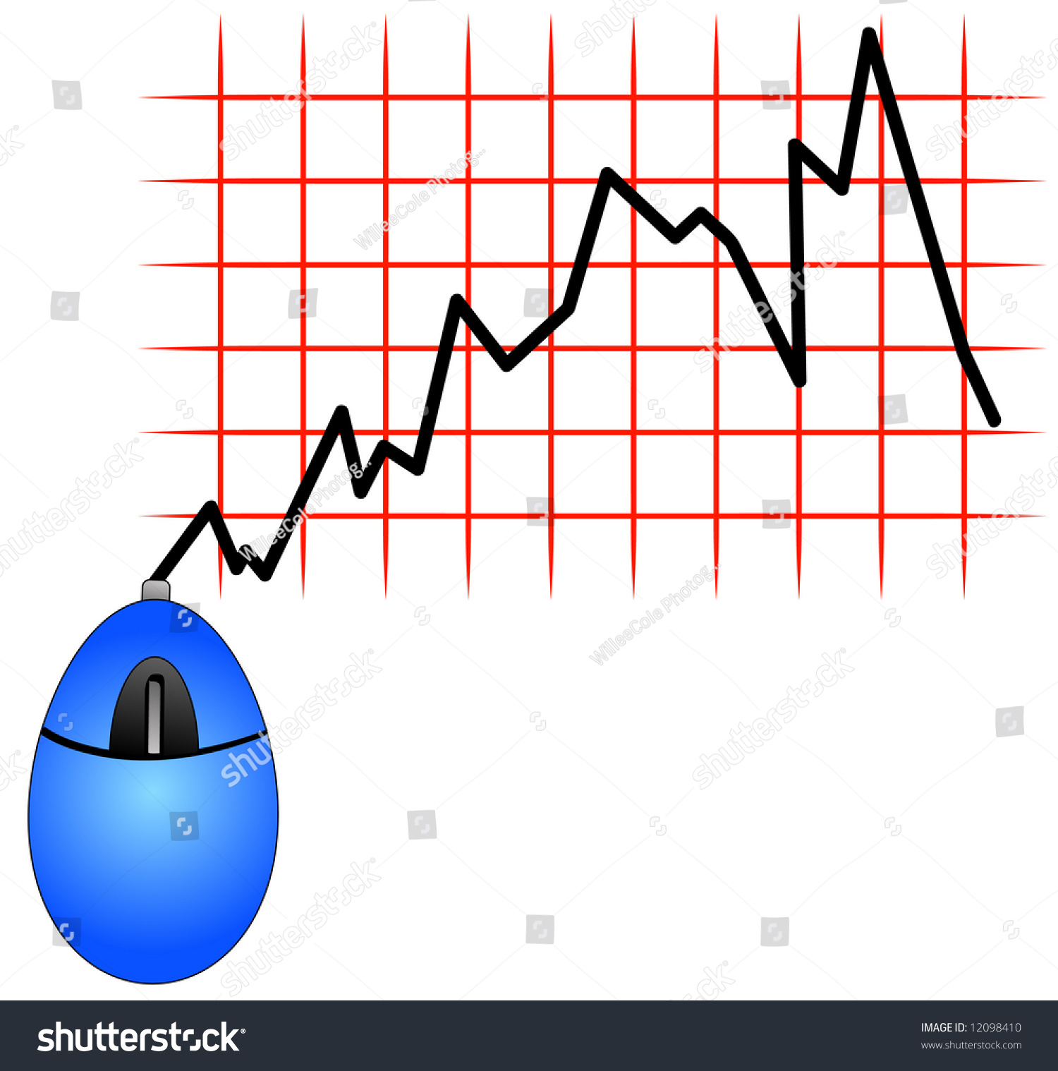 hight resolution of computer mouse management on a success diagram stock image image blue computer mouse cord showing fluctuation