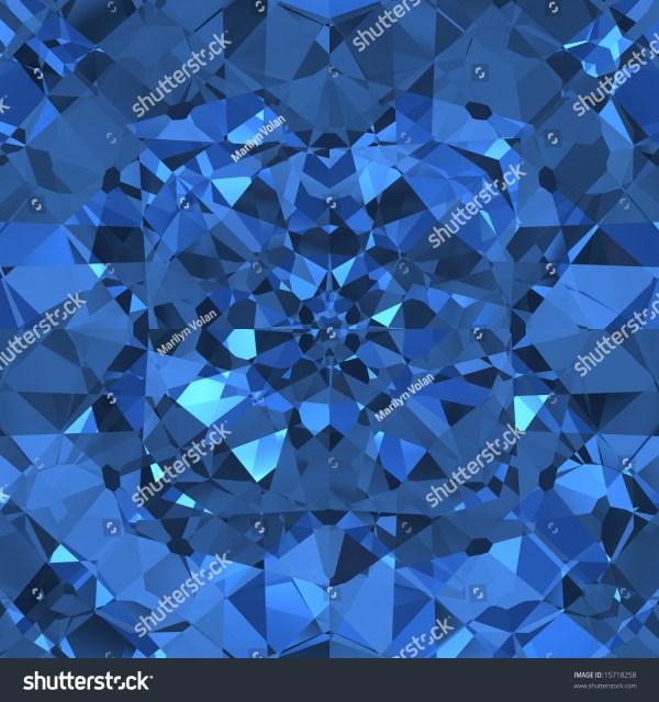 Blue Sparkling Diamonds Seamless Tile Stock Illustration