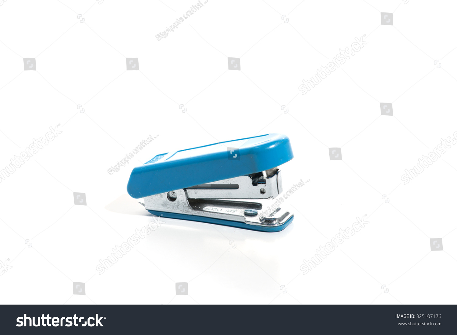 skate chair staples front porch rocking chairs canada stapler steel color blue and isolated on white background ez canvas