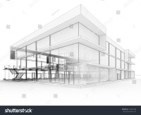Blueprint Design Modern Office Building Architects Stock ...