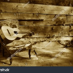 Guitar Playing Chair Folding Lawn Chairs On Sale Blues A Old With Wooden Background