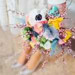 Bohemian Wedding Bouquet Stock Photo Edit Now 605254277