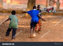 African Children Playing Games
