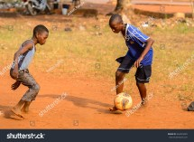 African Kids Playing Football