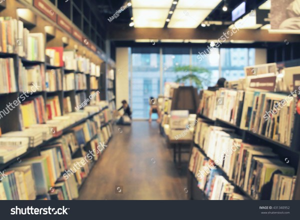 Bookstore De Focused Abstract Background Stock