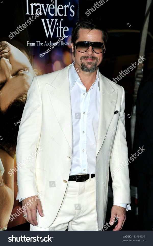 Brad Pitt Wearing Tom Ford Suit Stock 183455939