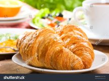Breakfast With Croissants And Coffee Stock Photo 81041740 ...
