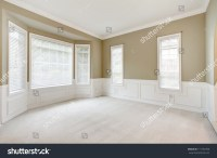 Bright Beige Large Empty Room Carpet Stock Photo 117192706