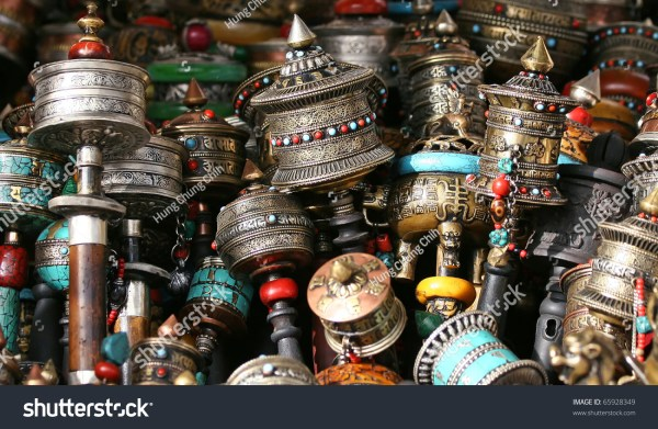 Buddhist Prayer Wheels Stock 65928349