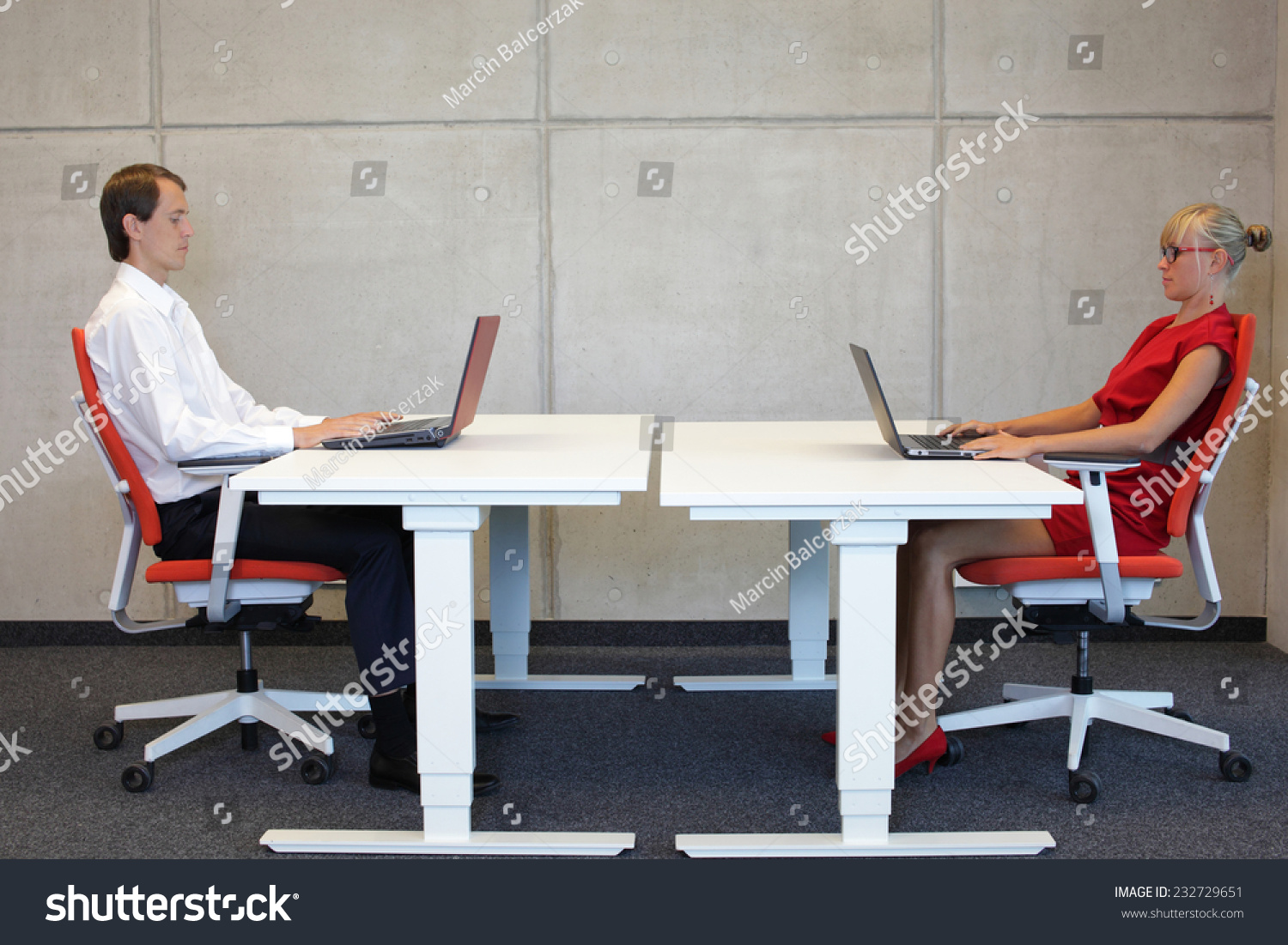 sitting posture on chair in office nursery rocking wayfair business man woman correct stock photo