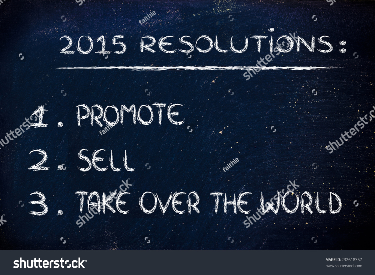 Business Resolutions Goals New Year Stock Illustration