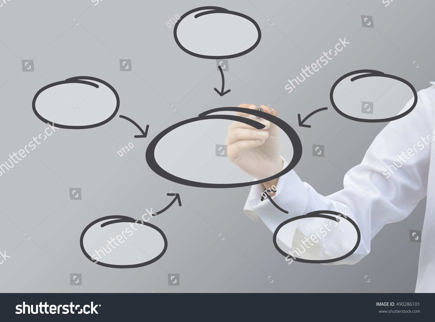 hight resolution of business writing relation of bubble diagram concept set5